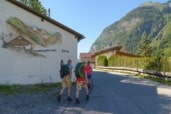 Start of the hike at the materials lift of the Ludwigsburger Hütte