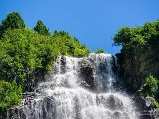 Bliggbach waterfall along the Kaunertaller glacier road